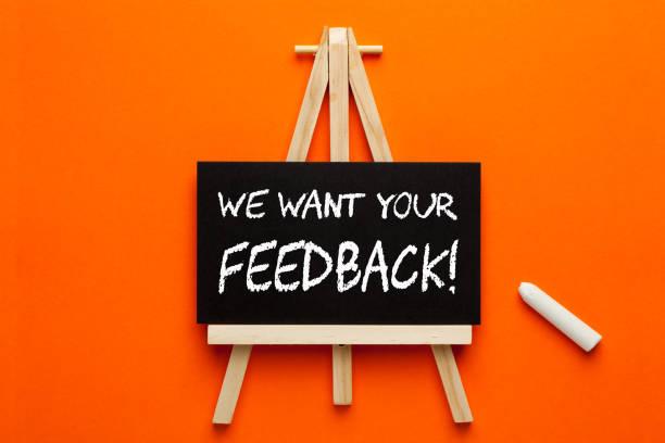 we want your feedback - uwiedzenie zdjęcia i obrazy z banku zdjęć