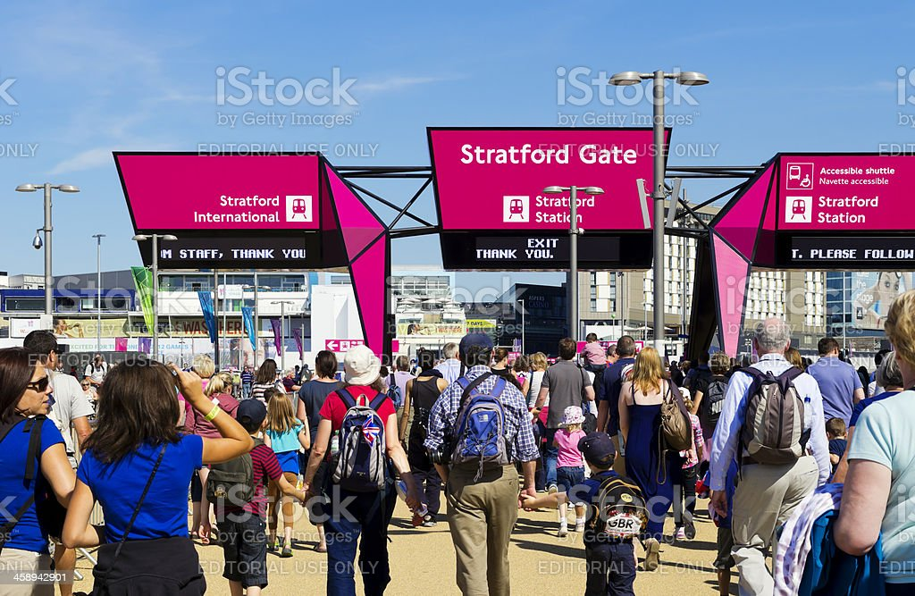 We were there - London's Olympic Park stock photo