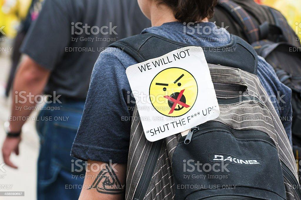 We will not STFU royalty-free stock photo