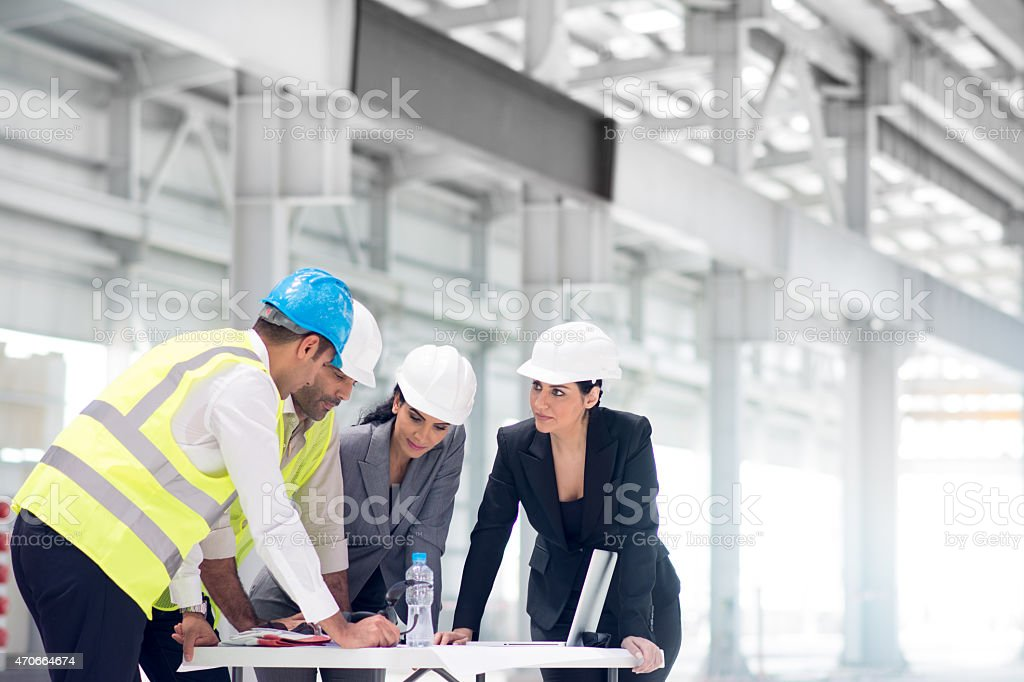 We will set the furnaces here! stock photo