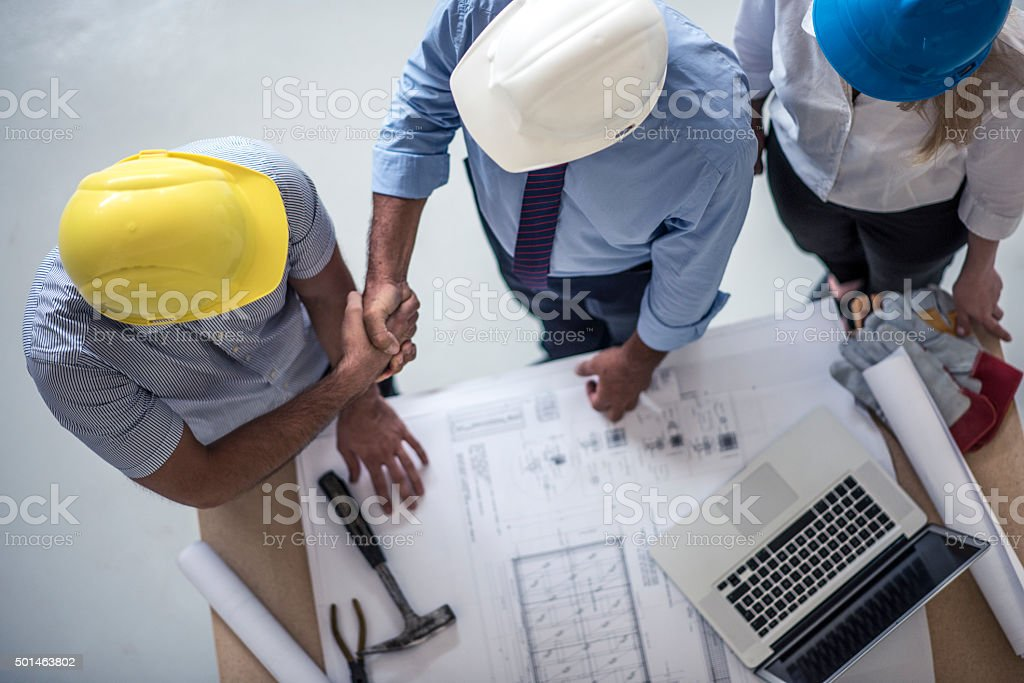 We will start with work next week! stock photo