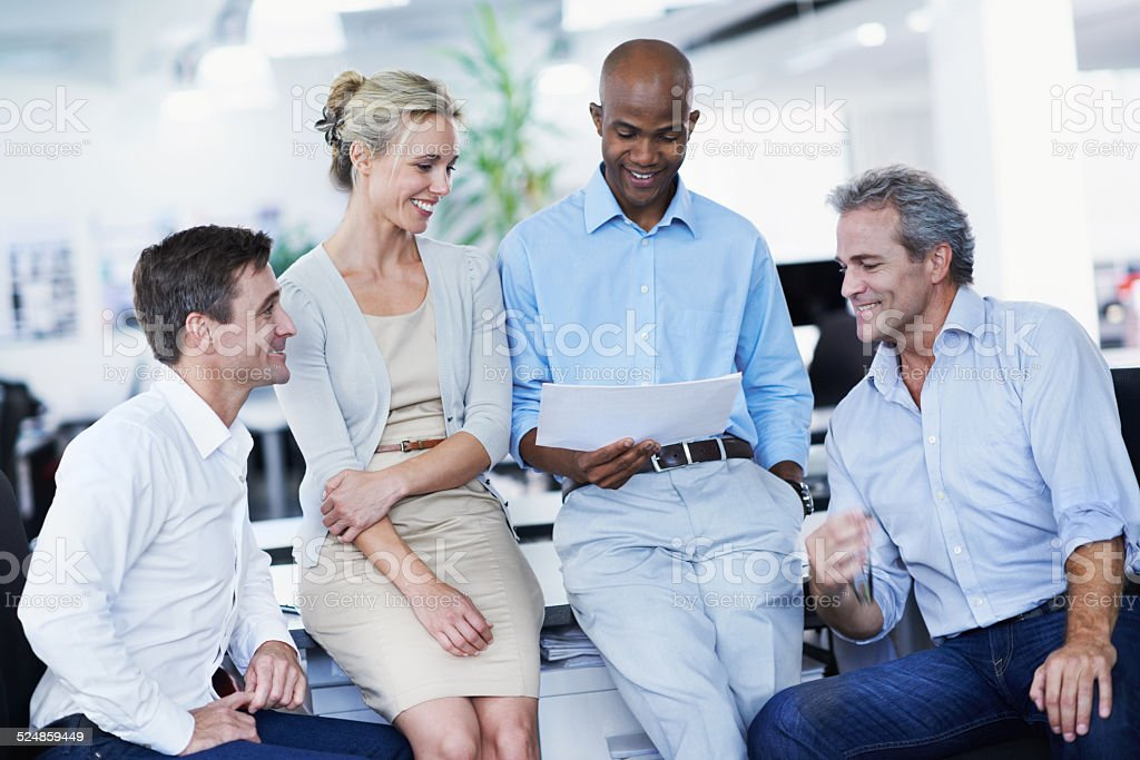 We work as a team stock photo