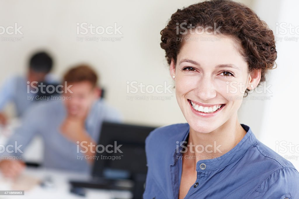 We work hard but have fun! royalty-free stock photo