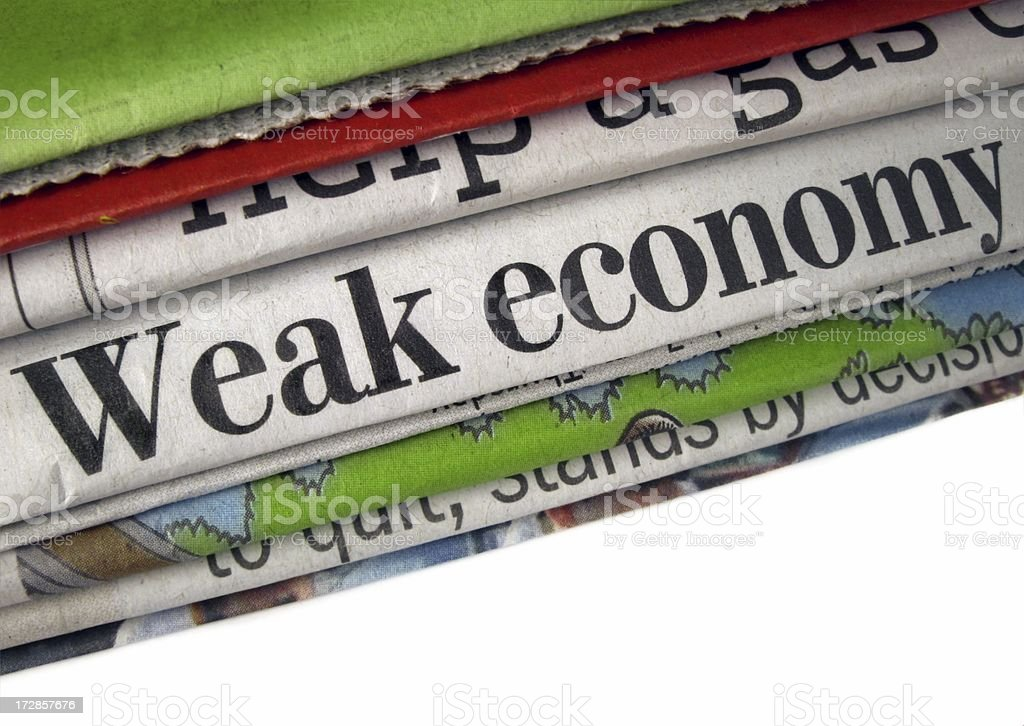 Weak Economy royalty-free stock photo