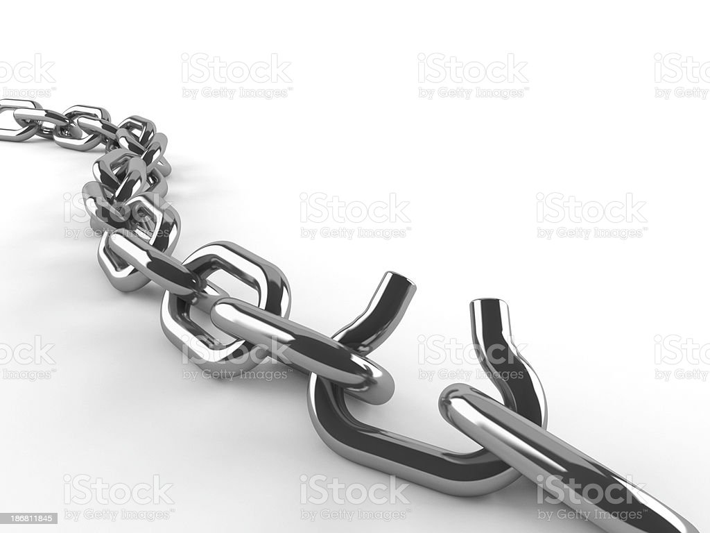 Weak link stock photo