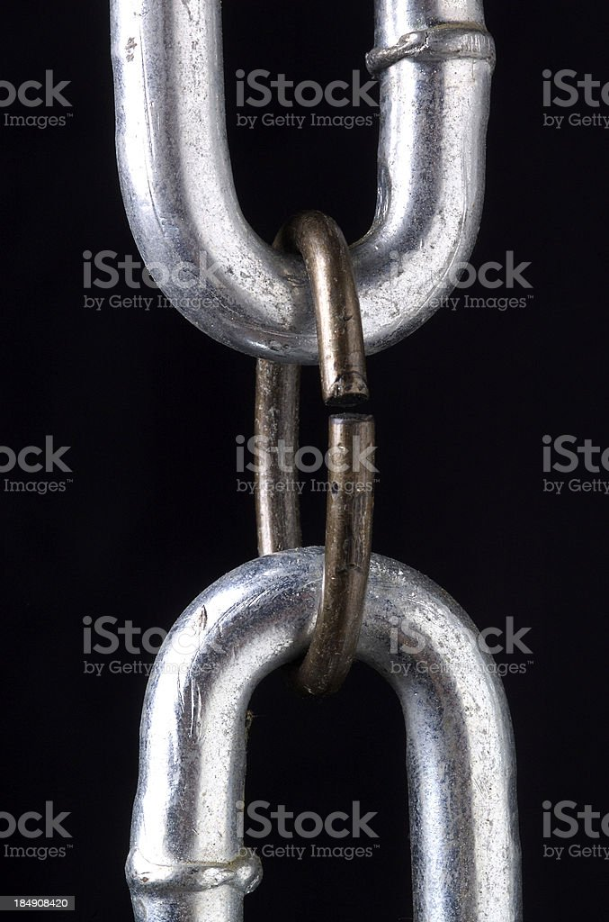 Weak Link Up close stock photo