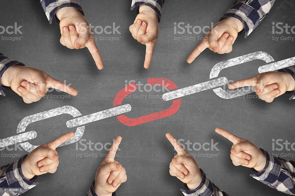 weakest link black board royalty-free stock photo