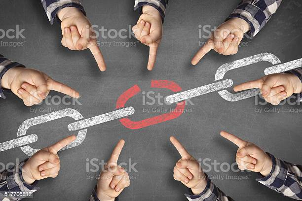 Weakest Link Black Board Stock Photo - Download Image Now