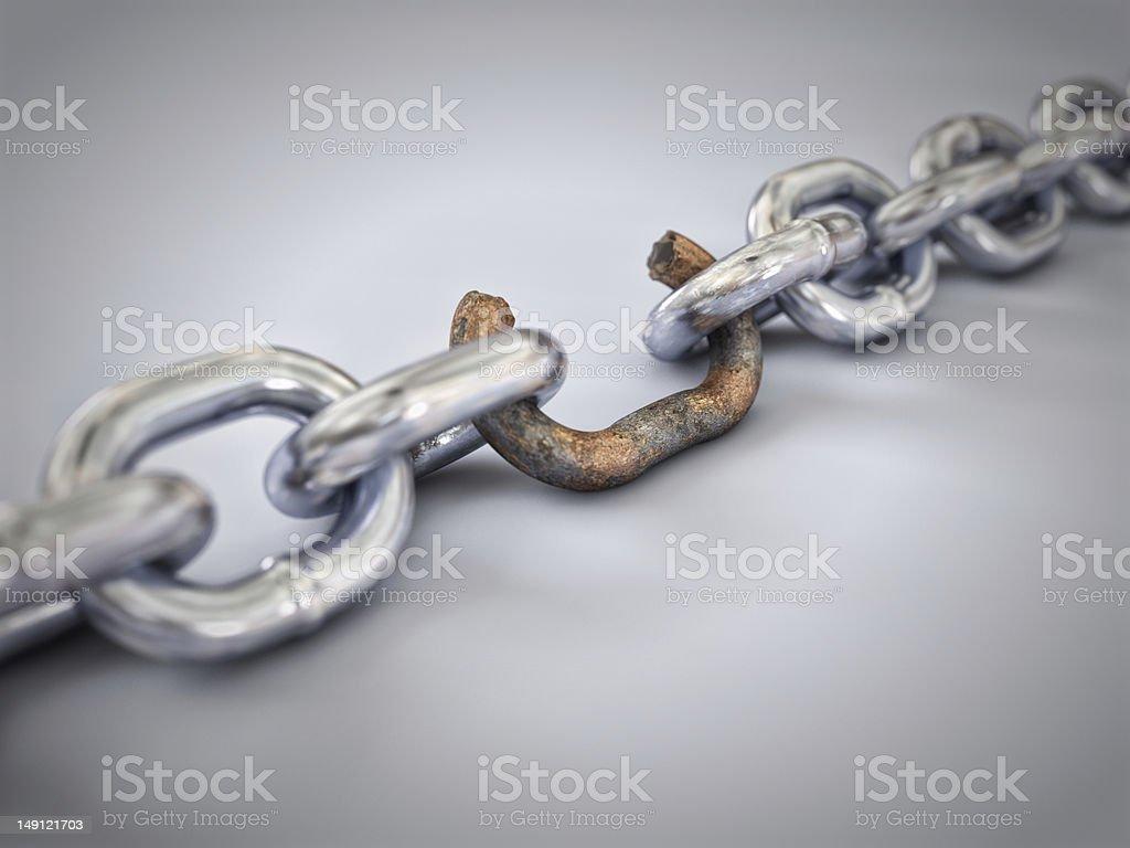 Weakest Link stock photo