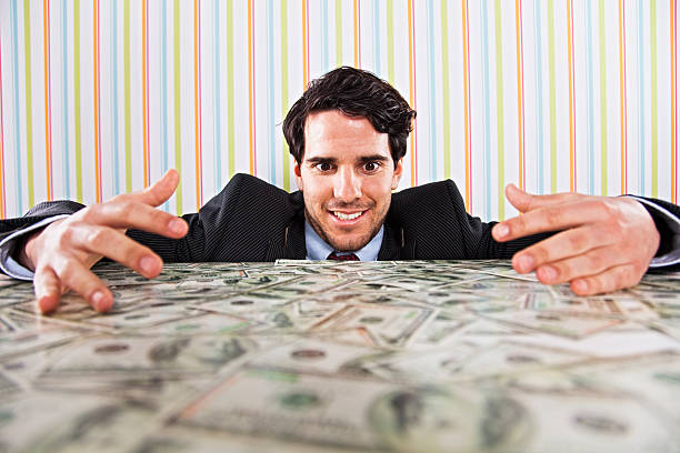 Wealth businessman stock photo