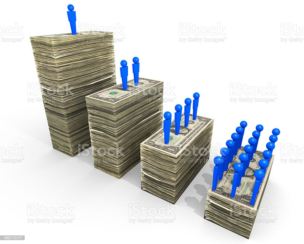Wealth Disparities stock photo