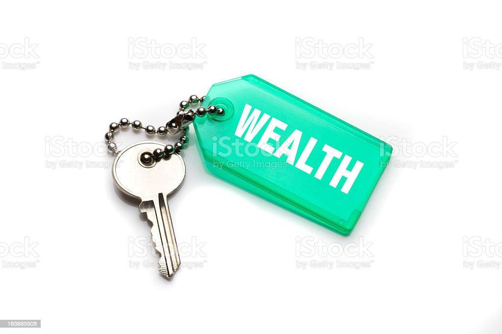 Wealth Keychain stock photo