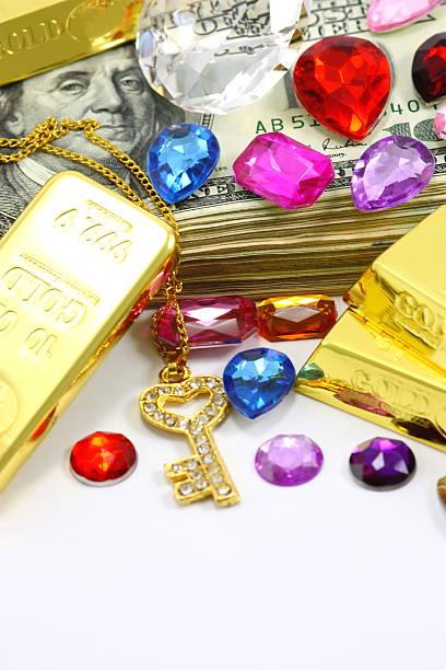 reichtum - diamanten kaufen stock-fotos und bilder