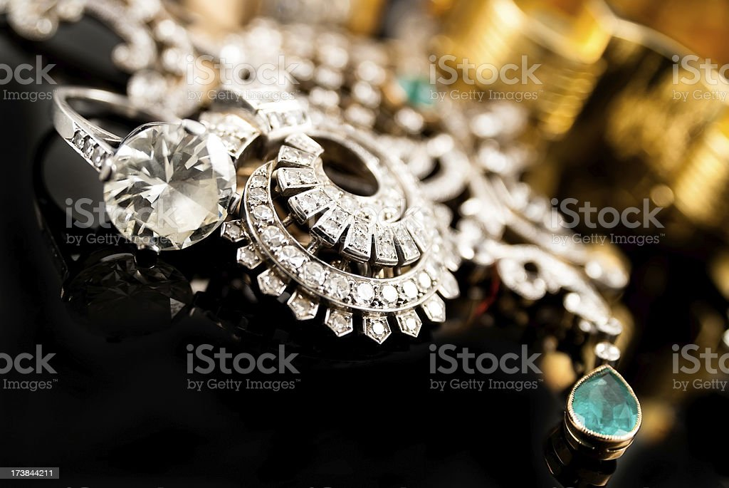 wealth with  jewelry stock photo