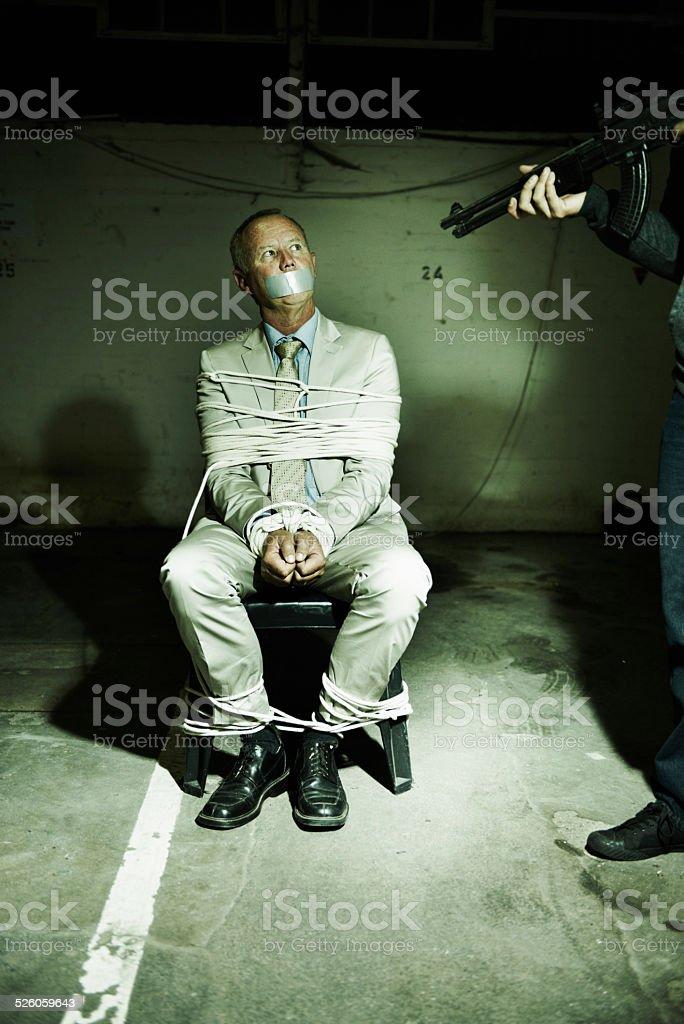 La adinerada ejecutivo secuestrados por el dinero - foto de stock