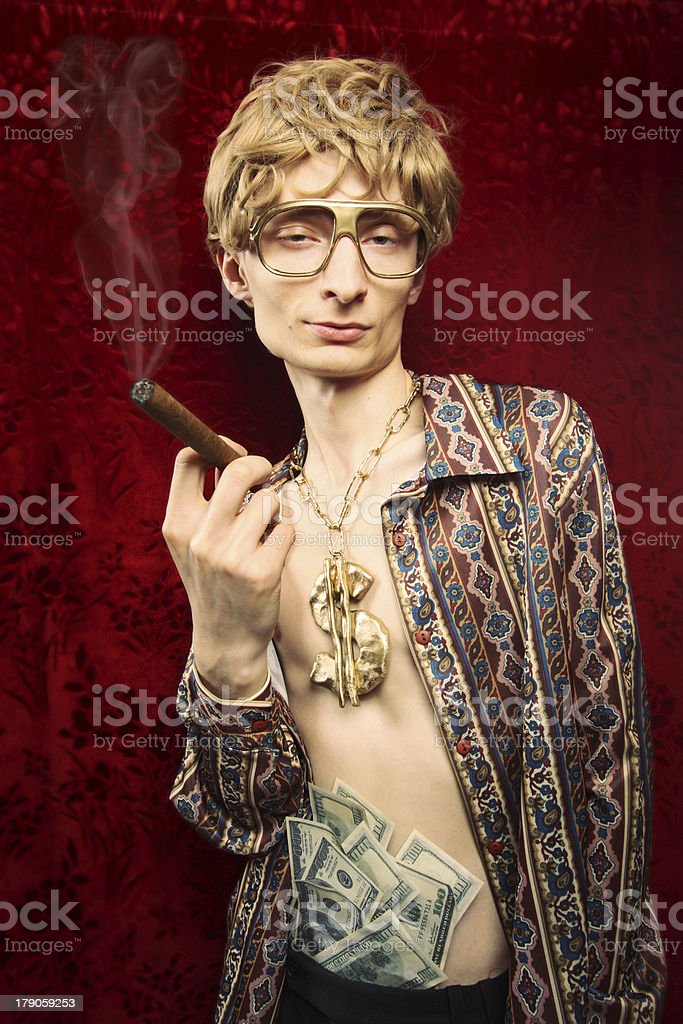 Wealthy guy stock photo