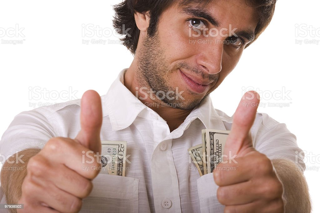 wealthy man royalty-free stock photo