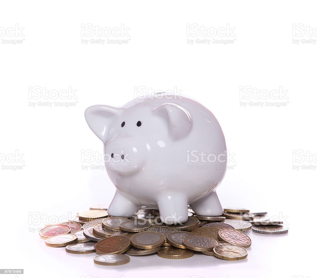 Wealthy piggy bank royalty-free stock photo