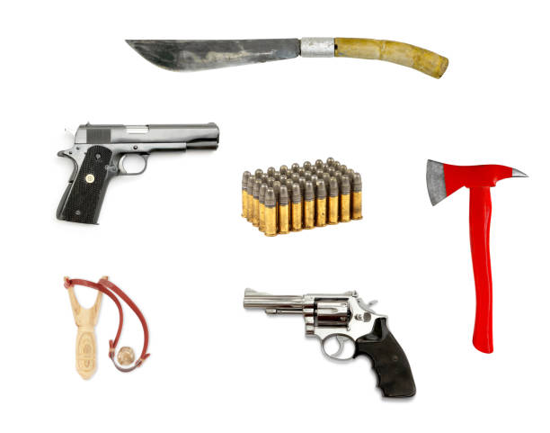 weapon isolated on white stock photo
