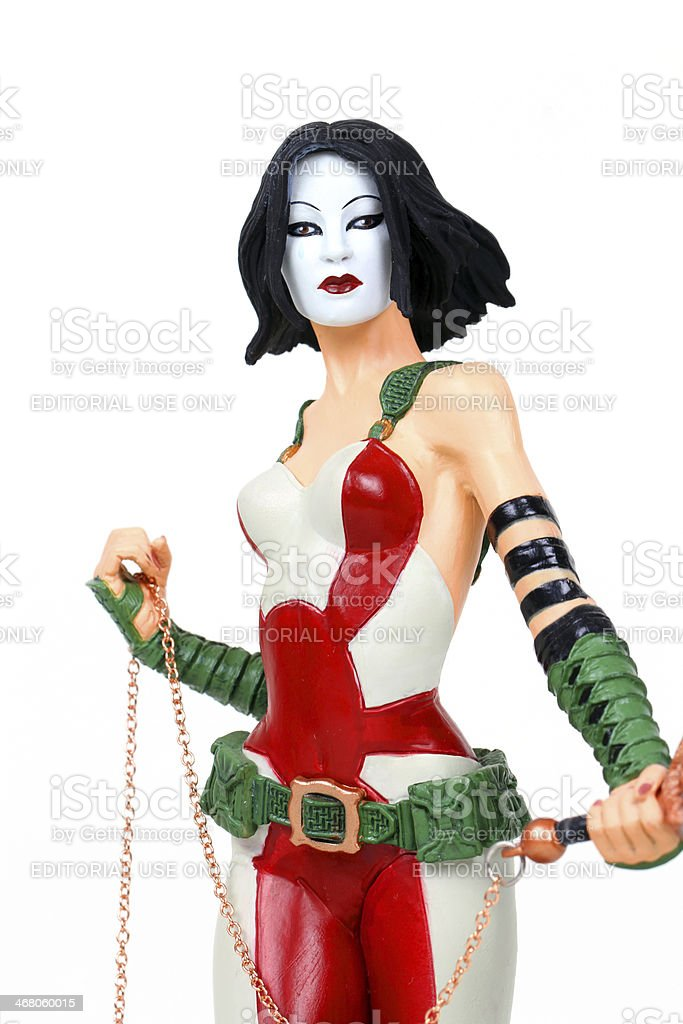 Weapon Weilding Woman stock photo