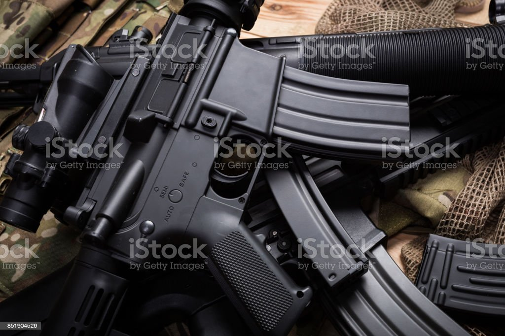 weapons and military equipment of special operations forces soldier stock photo