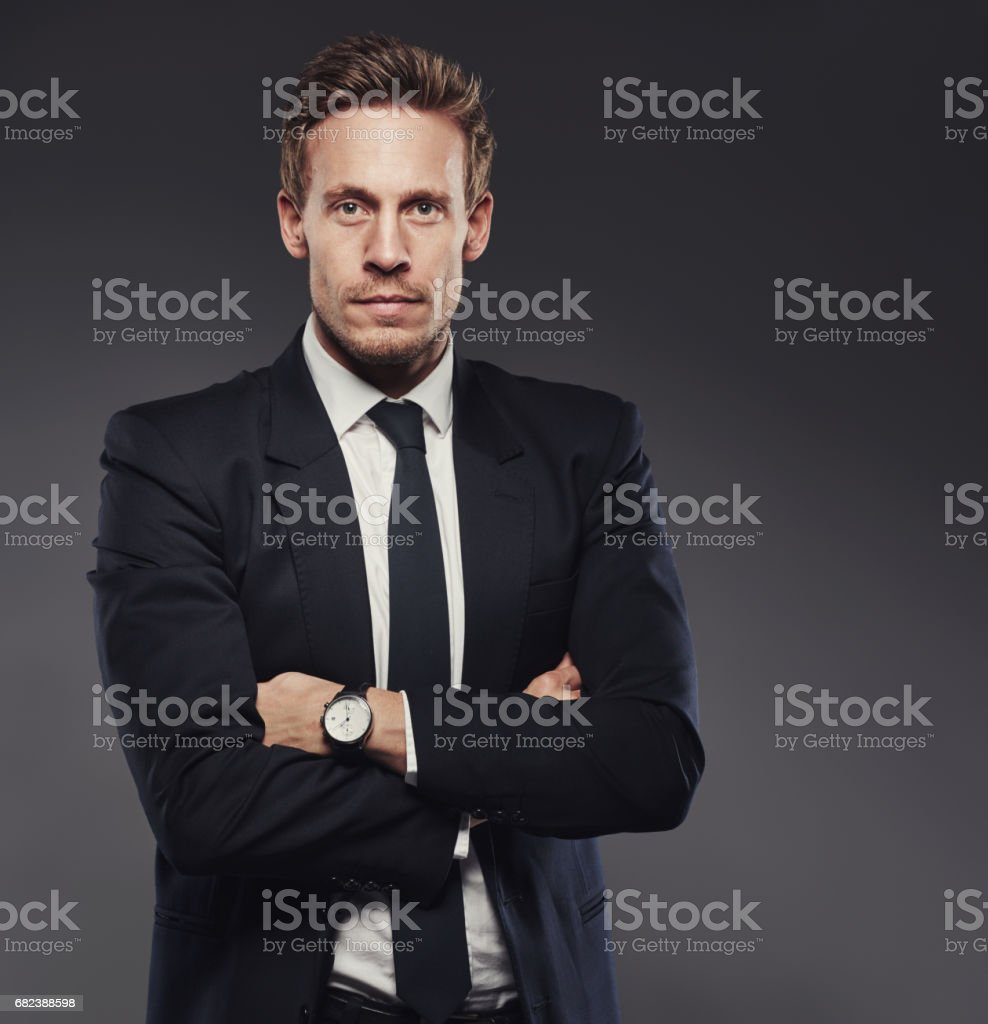 Wear a suit with confidence! royalty-free stock photo