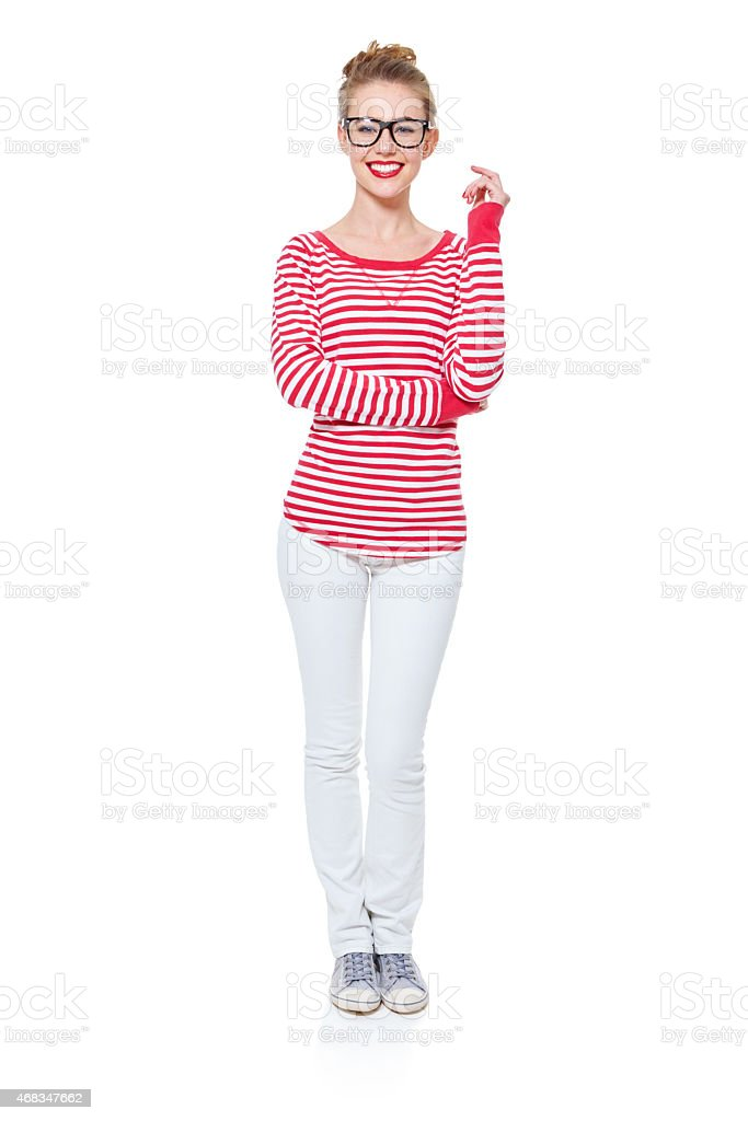 Wear confidence with every outfit royalty-free stock photo