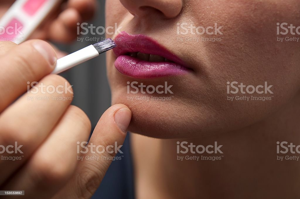 Wear lipstick stock photo