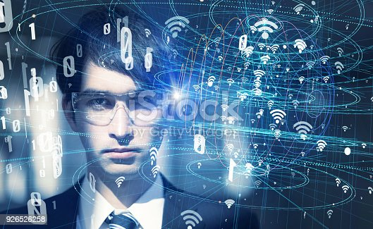 istock Wearable computing and wireless communication network concept. 926526258