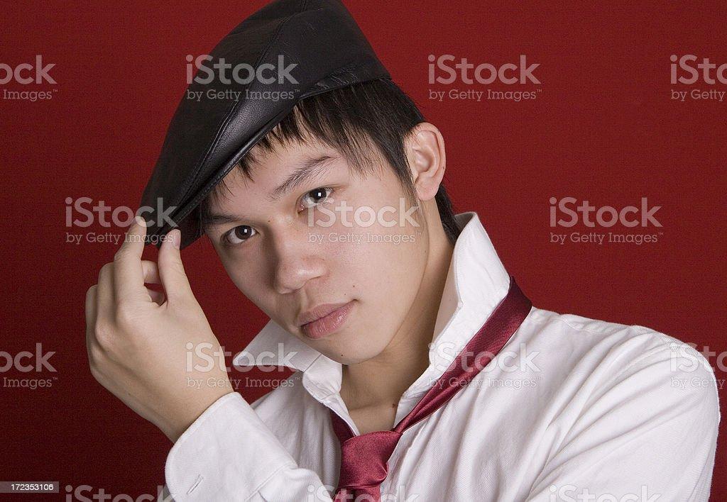 Wearing Cap royalty-free stock photo