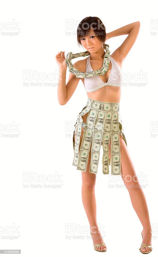 Wearing money royalty-free stock photo