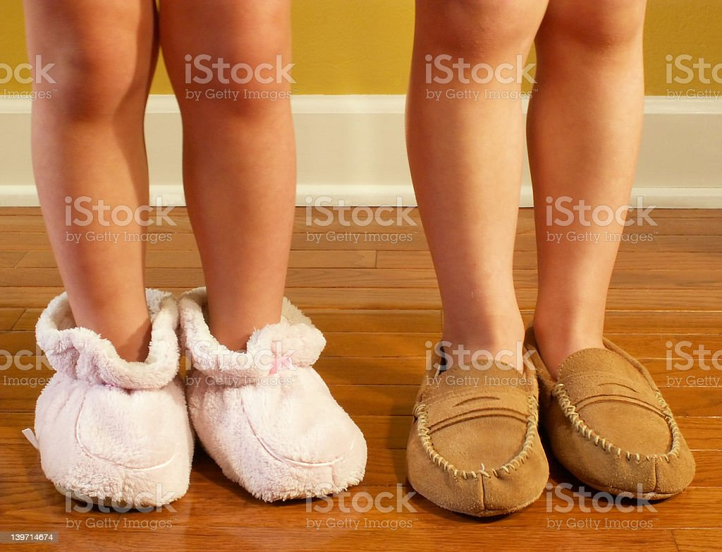 wearing slippers royalty-free stock photo