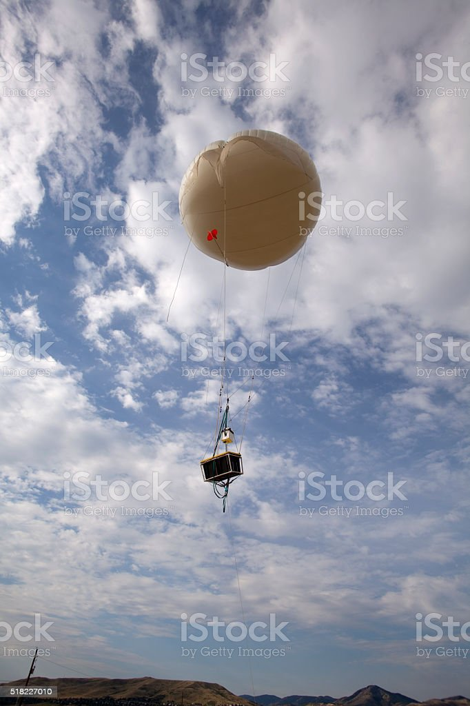 Weather Balloon And Testing Payload Golden Colorado Stock