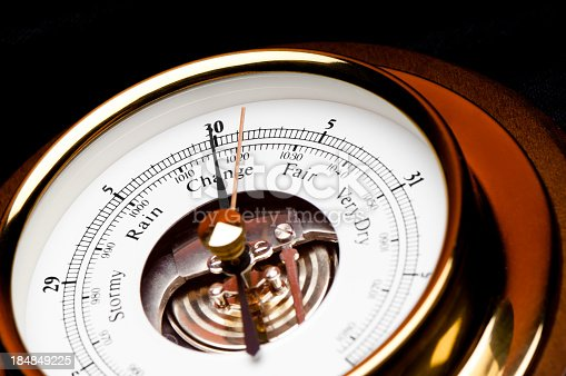 Close up Weather Barometer Gauge