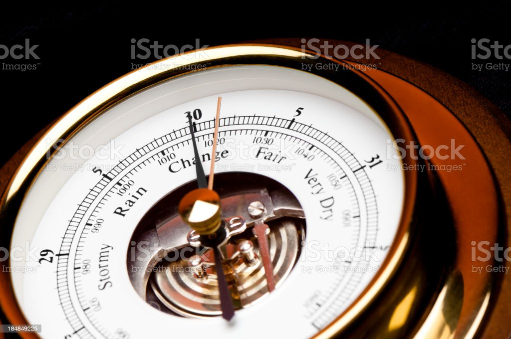 Weather Barometer Gauge stock photo
