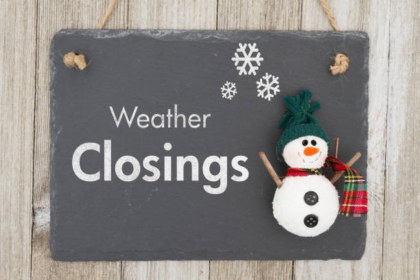 weather closing sign - closed stock photos and pictures