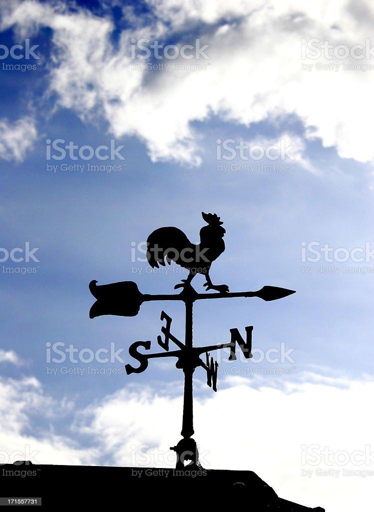 Weather cock stock photo