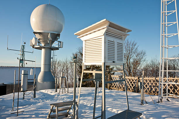 weather equipment - rain gauge stock photos and pictures