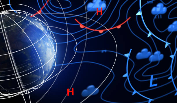 Weather Forecast and Earth stock photo