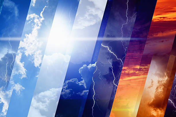 weather forecast concept - regen zon stockfoto's en -beelden