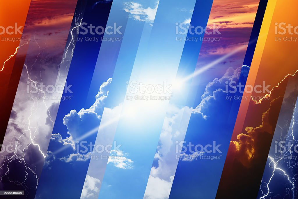 Weather forecast concept stock photo