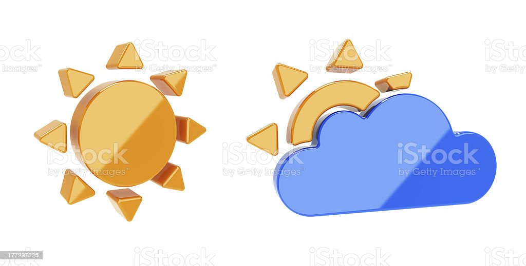 Weather icon royalty-free stock photo