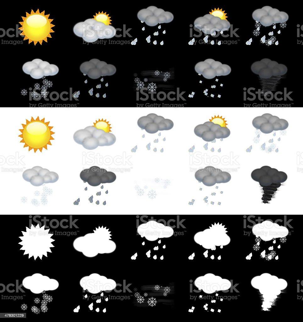 Weather Icon Set stock photo
