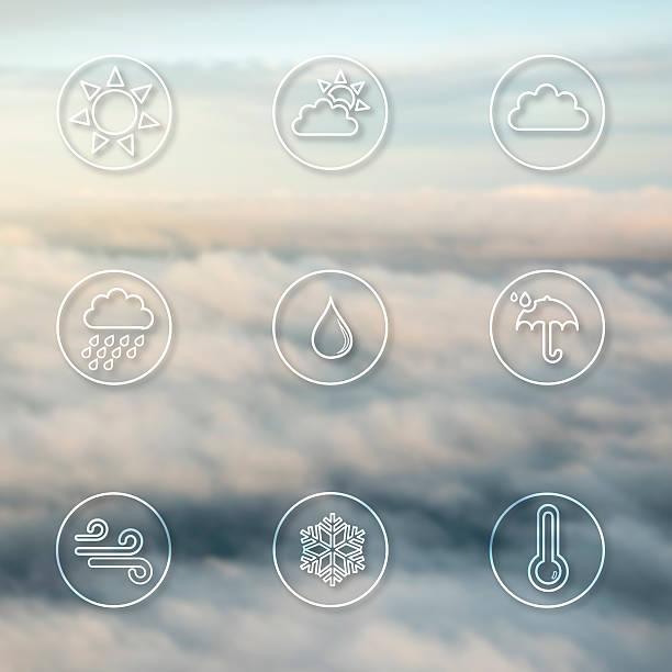 Ícones de meteorologia - foto de acervo