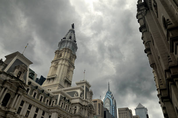 Weather in Philadelphia stock photo