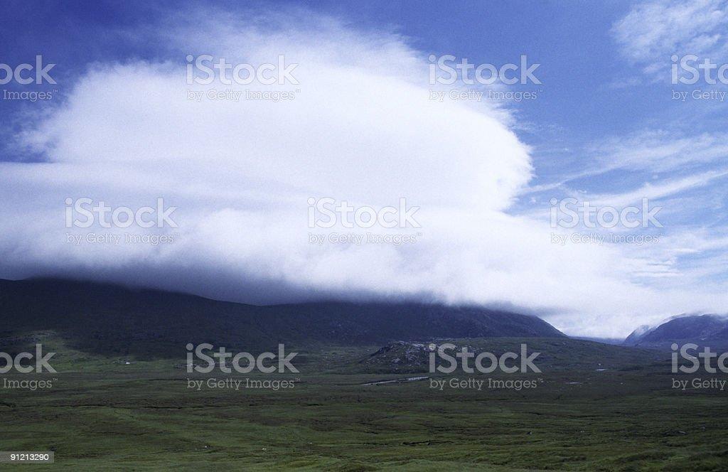 Weather in Scottish Higlands stock photo