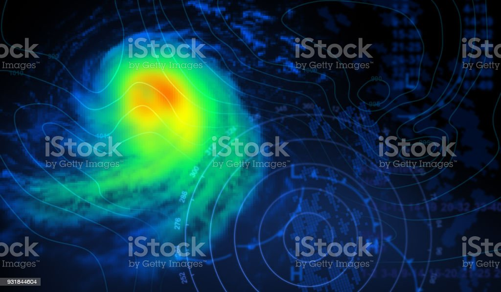Weather Map and Storm royalty-free stock photo