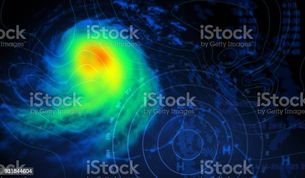Weather Map And Storm Stock Photo - Download Image Now