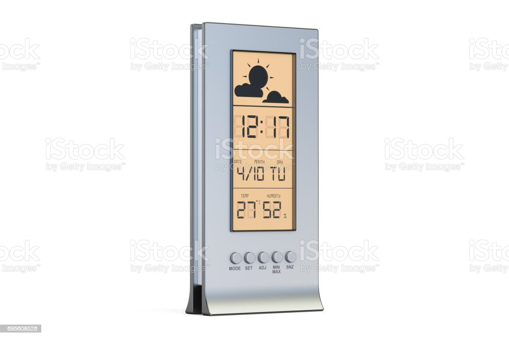 weather station, 3D rendering isolated on white background stock photo