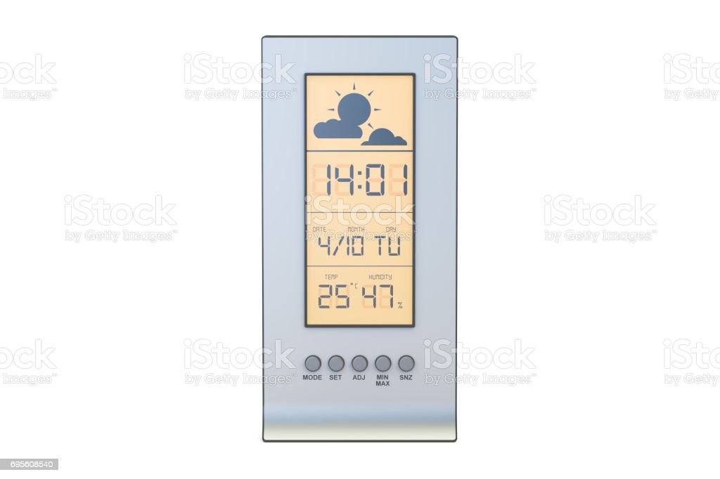 weather station closeup, 3D rendering isolated on white background stock photo